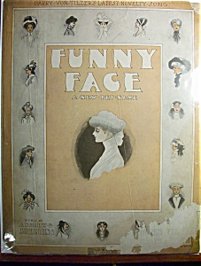 Sheet Music Of 1910 Funny Face A New Pet Name