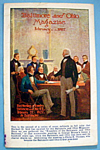 Founders Of Baltimore Postcard By Herbert D. Stitt (Image1)