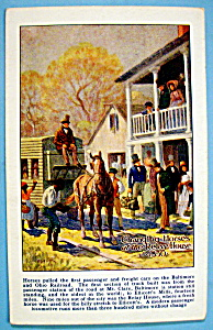 Changing Horse at the Relay House Postcard (Image1)