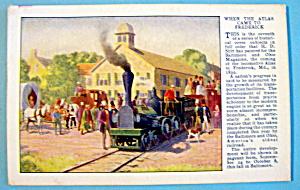 When Atlas Came To Frederick Postcard-Baltimore & Ohio (Image1)