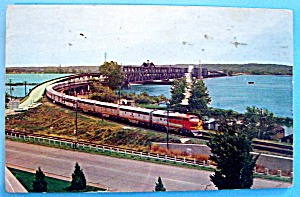 Leaving Santa Fe Bridge Postcard (Fort Madison, Iowa) (Image1)