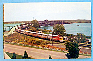 Santa Fe Bridge Over Mississippi River Postcard (Iowa) (Image1)