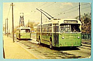 Septa 488 Trolley Coach Postcard (Image1)