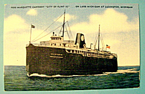 Pere Marquette Carferry Postcard (Image1)