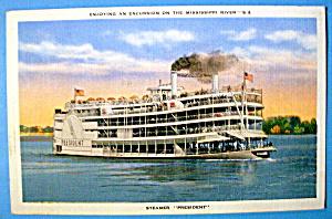 Steamer President Ship Postcard (Image1)