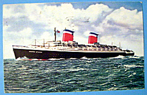 S. S. United States Ship Postcard (Image1)