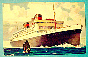 S. S. President Hoover & Coolidge Ships Postcard (Image1)