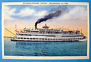 Capitol Steamer Liner Ship Postcard (Image1)