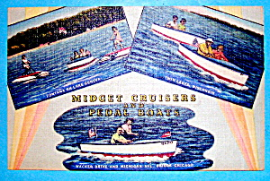 Midget Cruisers & Pedal Boats Postcard (Image1)