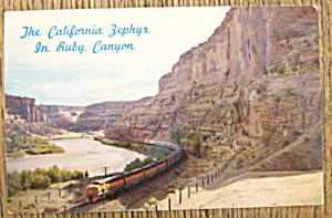 The California Zephyr In Ruby Canyon (Image1)