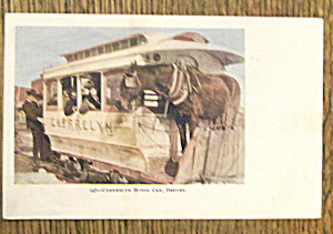 Cherrelyn Horse Car Postcard-Vivid Picture of Horse Car (Image1)