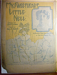 Sheet Music Of 1906 My Sweetheart Little Nell