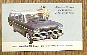 1960's Rambler Postcard (Super Cross Country Wagon) (Image1)