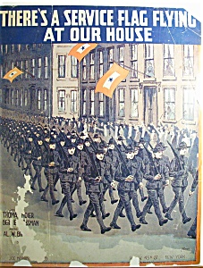 Sheet Music - 1917 There's A Service Flag Flying