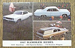 1967 Postcard Of A Rambler Rebel (Image1)