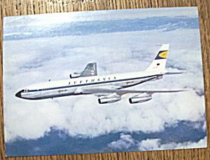 Lufthansa Postcard (Lufthansa Boeing Jet 707) (Image1)