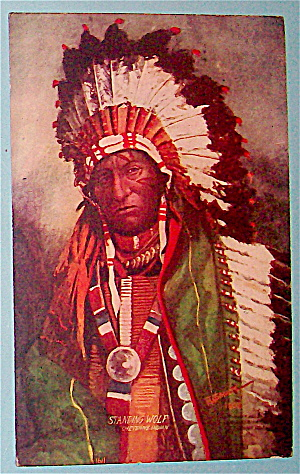 Standing Wolf (Cheyenne Indian) Postcard-Indians Coming (Image1)
