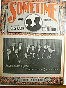 Sheet Music For 1925 Sometime Song