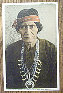 Postcard Of Old Navajo Indian Medicine Man (New Mexico)