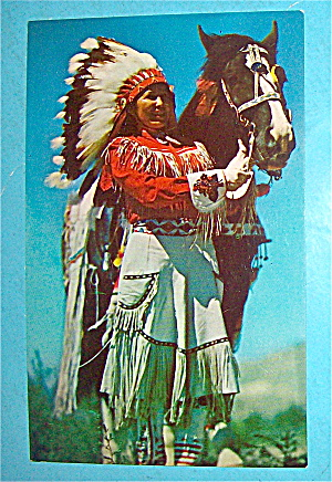 Western Indian Maiden Postcard