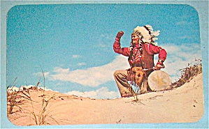 Indian Scout (Scanning The Horizon) Postcard