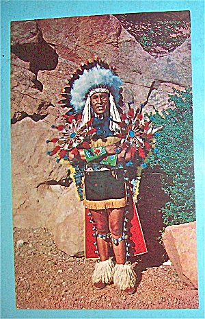 North American Indian Chief Postcard (Full Dress)