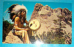 Mount Rushmore & Sioux Indian Postcard (Image1)