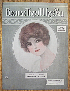 Sheet Music For 1924 Because They All Love You