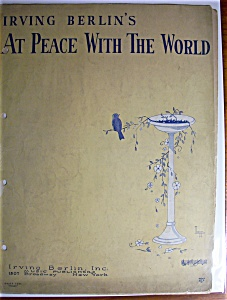 At Peace With The World 1926 By Irving Berlin