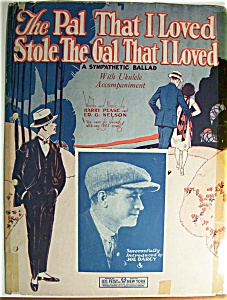 Sheet Music For 1924 The Pal That I Loved