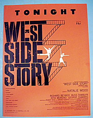 Sheet Music For 1957 Tonight (West Side Story)