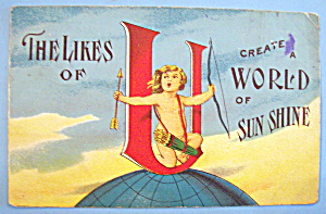 The Likes Of A World Of Sun Shine Postcard
