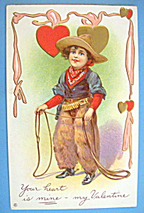 My Valentine Postcard with Child Dressed as Cowboy (Image1)