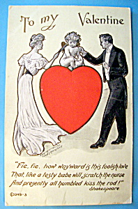 To My Valentine Postcard with Man & Woman Standing (Image1)