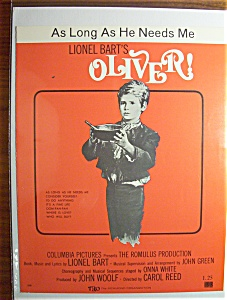 1960 Oliver As Long As He Needs Me (Lionel Bart's)