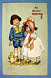 An Easter Offering Postcard By Tuck's (Image1)