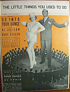 Sheet Music For 1935 The Little Things You Used To Do