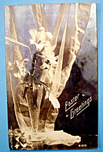 Easter Greetings Postcard with Easter Lily (Image1)