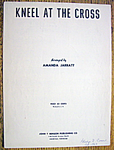 Sheet Music For 1957 Kneel At The Cross