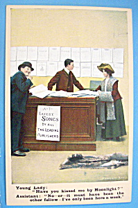 All The Latest Songs Postcard By Bamforth & Company