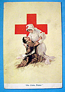 A Helping Nurse Postcard