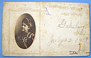 Beautiful Woman Postcard-Embossed Design Lovely Woman (Image1)