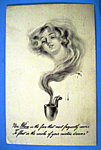 Beautiful Woman Postcard (Nicotine Dreams) (Image1)