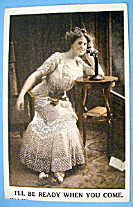 Woman In Waiting Postcard (Image1)