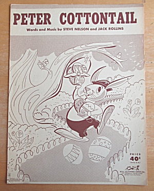 Sheet Music For 1950 Peter Cottontail