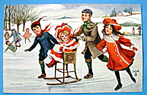 Merry Winter Postcard By Tuck's (Image1)
