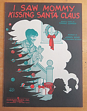 Sheet Music For 1952 I Saw Mommy Kissing Santa Claus