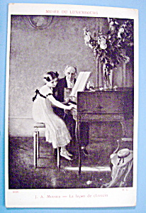 Piano Lessons Postcard