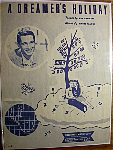 Sheet Music For 1959 A Dreamer's Holiday