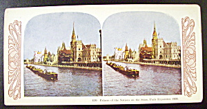 Palace Of The Nation, Paris Exposition 1900 Stereo Card (Image1)
